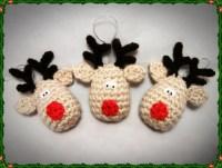Crochet Rudolf Reindeer Christmas Decoration Pattern