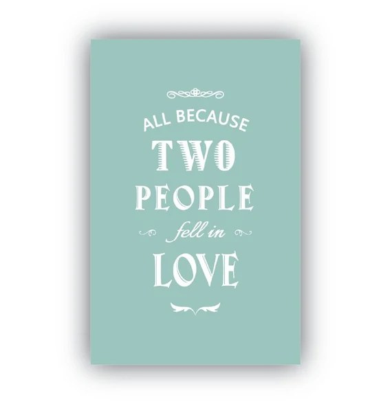 Download Items similar to All Because Two People Fell in Love ...