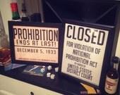 Printable Prohibition & C...