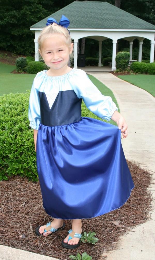 Ariel Blue Dress Kiss Girl Style Tootietots