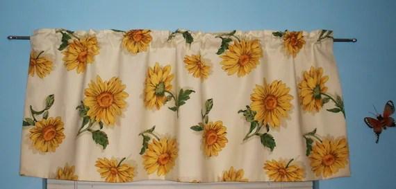 Sunflower Kitchen Curtains