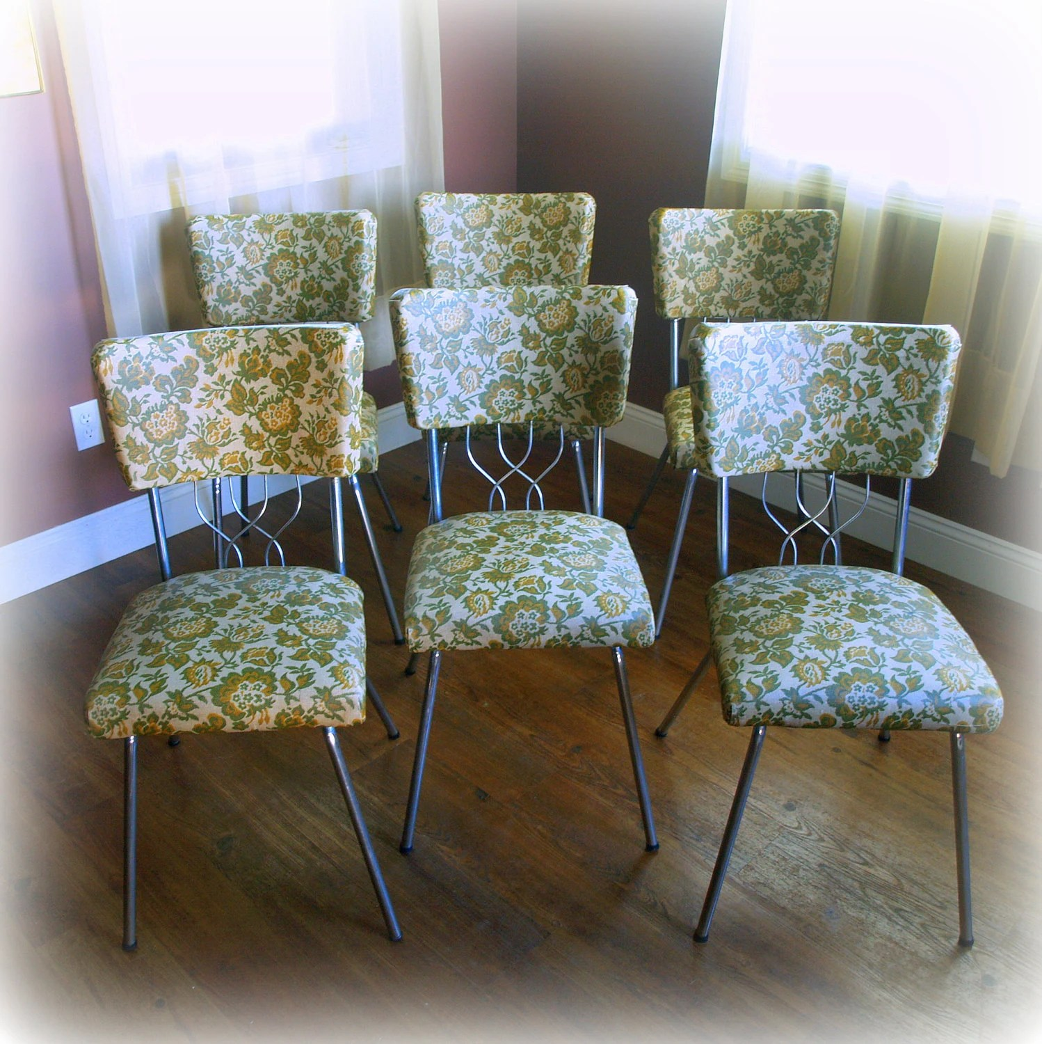 6 RETRO DINING CHAIRS  Super Cool Mid Century by
