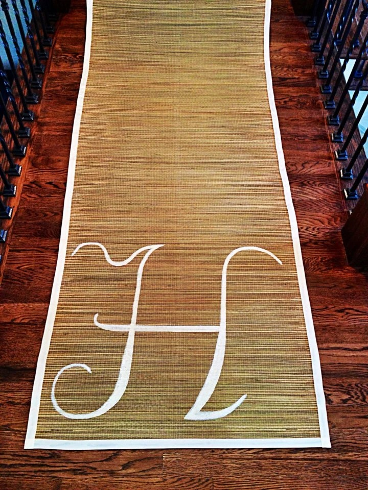 Items similar to CUSTOM Bamboo Aisle Runner  FREE SHIPPING  Perfect for Beach Countrythemed