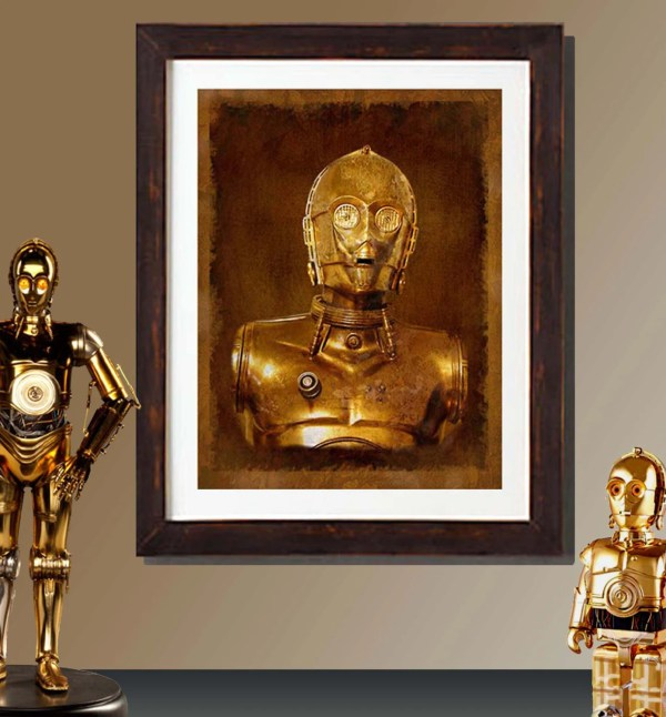 Fine Art Print Vintage Star Wars -3po Raygunsandrobots
