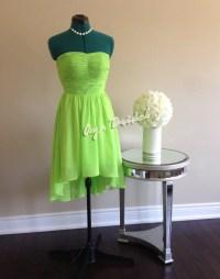 Lime Green Short Bridesmaid Dresses