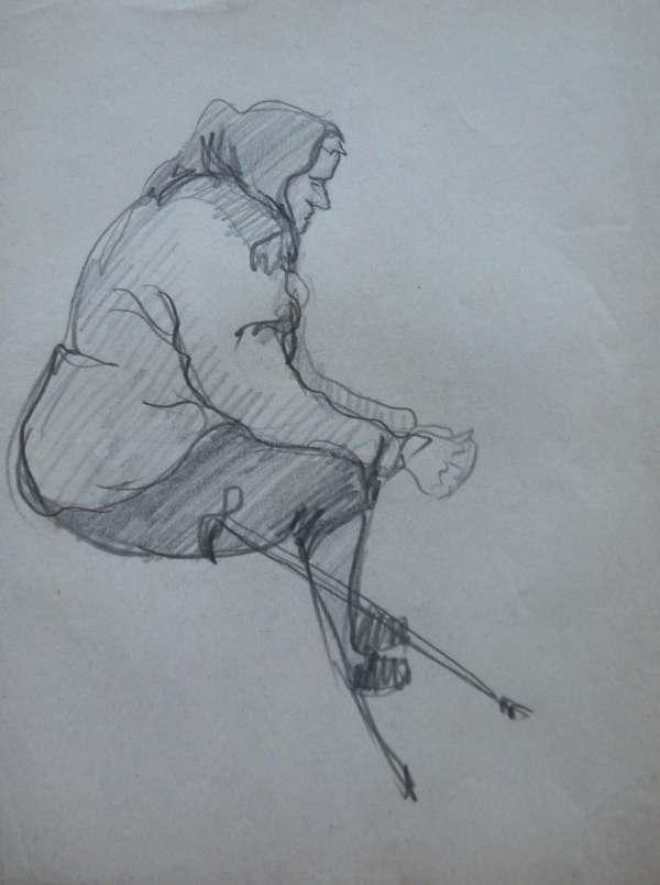 Women. Pencil Drawing. Original Line Ohankart