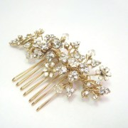 gold wedding hair comb bridal