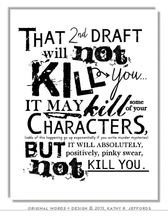 2nd Draft Typographic Print Editing Revising by