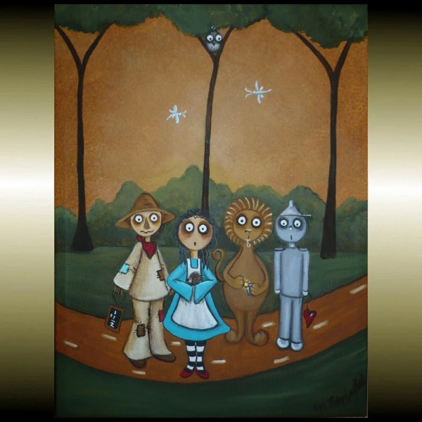 Wizard Of Oz Art Whimsical Fairytale Canvas Painting