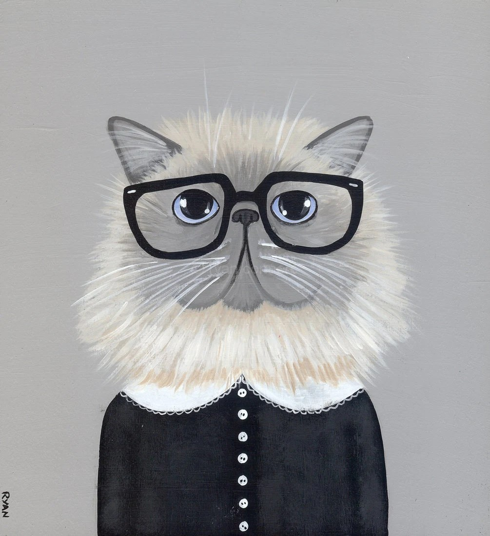 Hipster Persian Cat