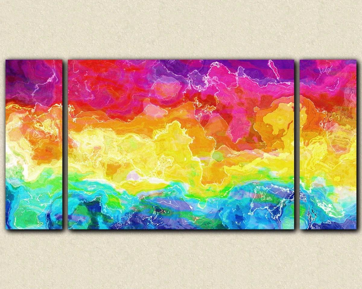 Profile Colors Multi Panel Canvas Wall Art Elephantstock   iltribuno.com