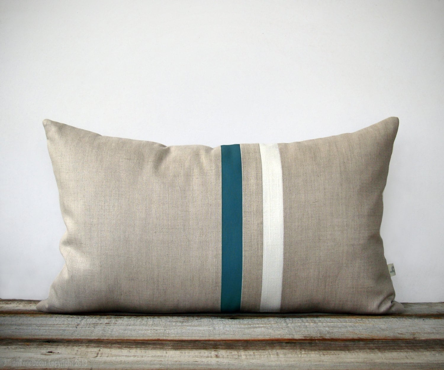 cream colored sofa pillows small 2 seater laura ashley teal and striped lumbar pillow 12x20 modern home decor