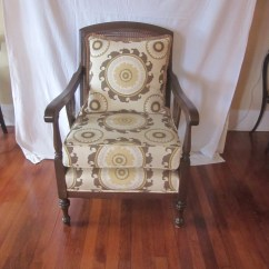 Cane Back Chairs Antique Walker Roller Chair Bergere Arm With Newly Upholstered