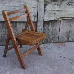 Folding Chair For Child Tilting Office Mechanism Vintage 39s Wooden Wood Kids