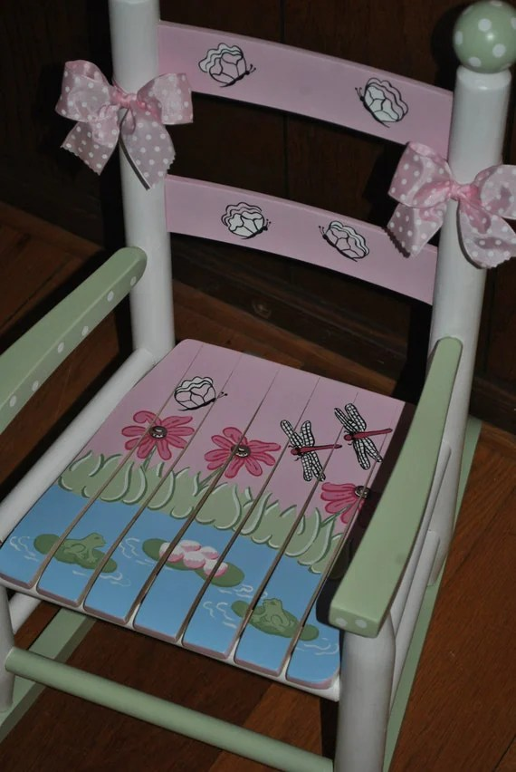 baby rocker chair leather chairs cheap items similar to handpainted rocking chair-kids chairs-rocking chair-rocker-nursery ...