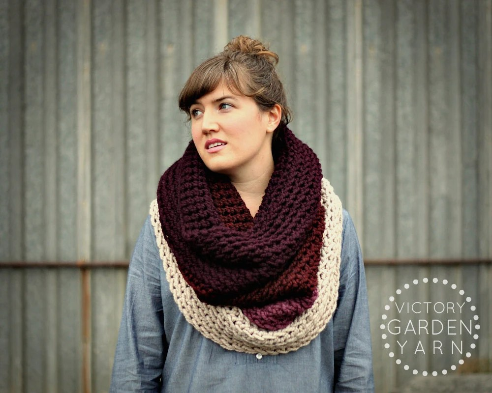 Ombré Cowl Scarf in Orchid