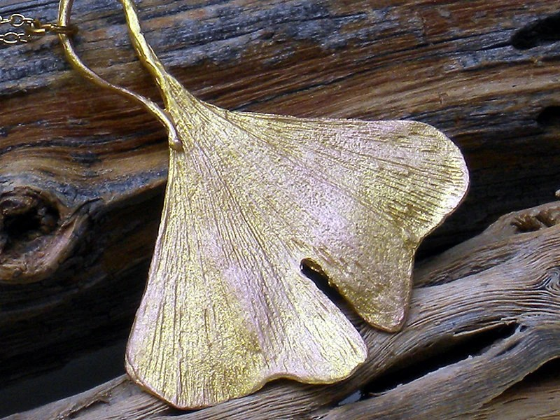 Simply Ginkgo Necklace - Botanical nature - Autumn leaf - Gold leaf necklace - Woodland - DGordonDesigns