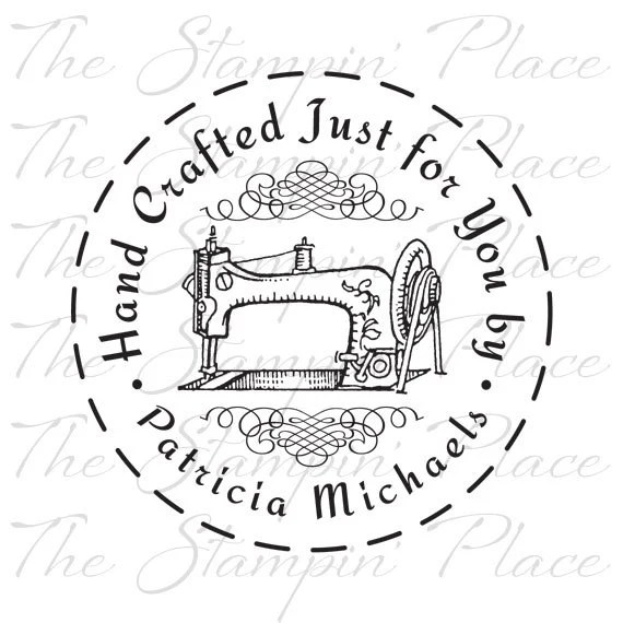 Personalized Custom Stamp Hand Crafted Just for You Sewing