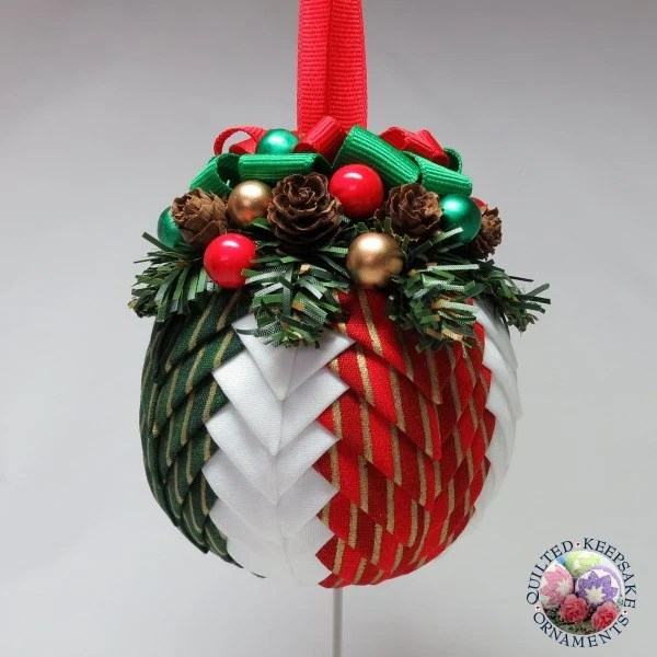Quilted Christmas Ornament Festive Holiday