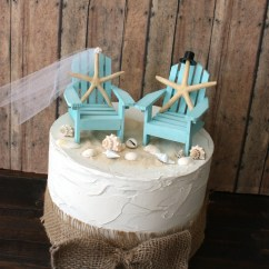 Miniature Adirondack Chairs Childs Wicker Chair Something Blue Beach Wedding Cake Topper-miniature