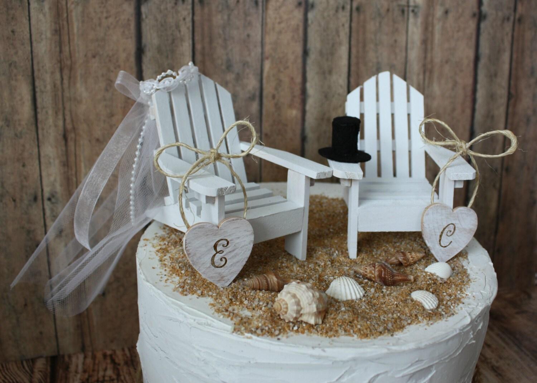 adirondack chair cake topper vintage wood folding chairs beach wedding