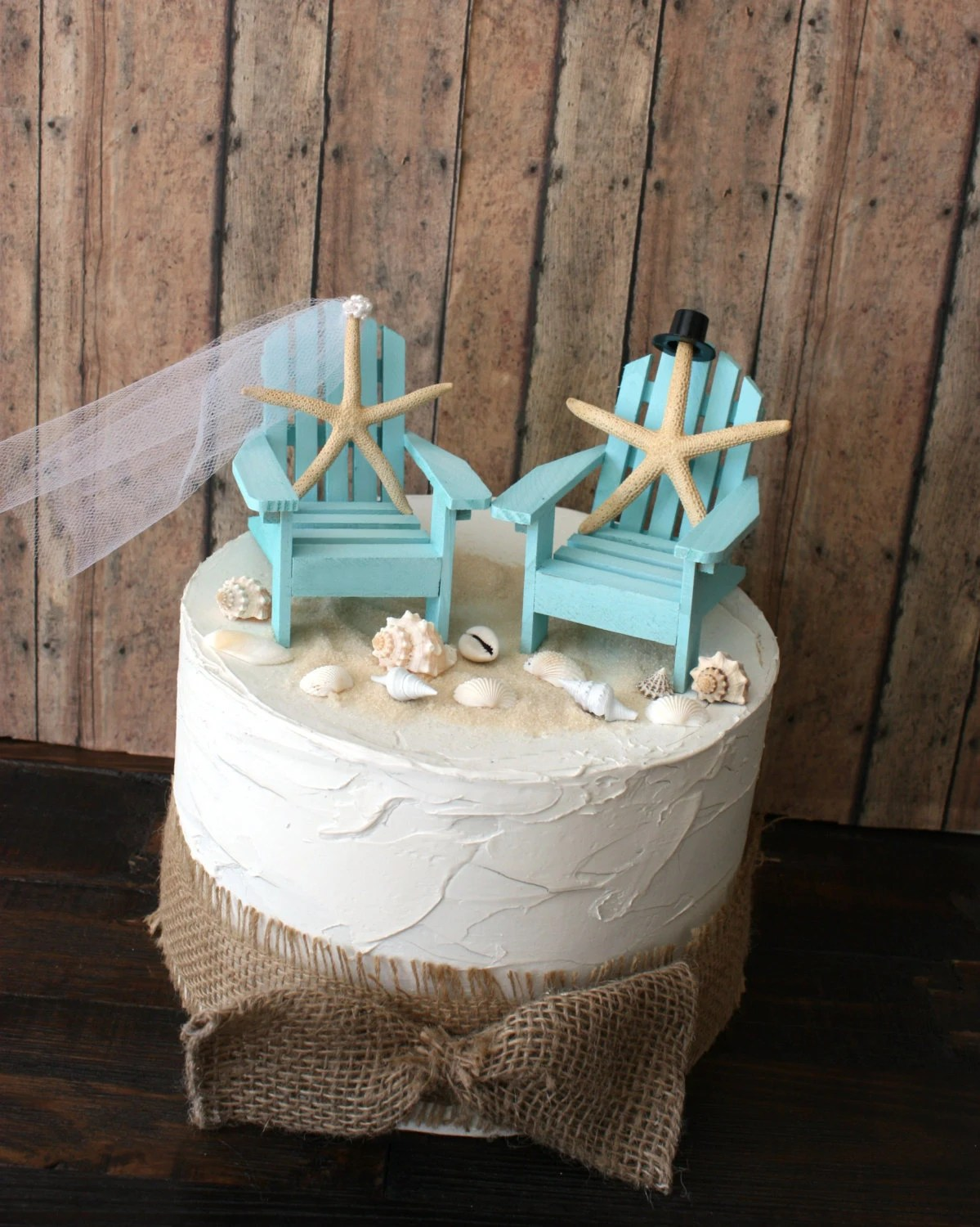 miniature adirondack chairs office chair comfort accessories something blue beach wedding cake topper