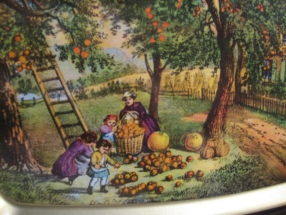 Fall Pumpkin Wallpaper Items Similar To American Homestead Autumn Currier Amp Ives
