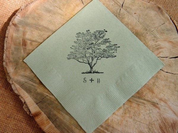 Rustic Wedding Cocktail Napkins