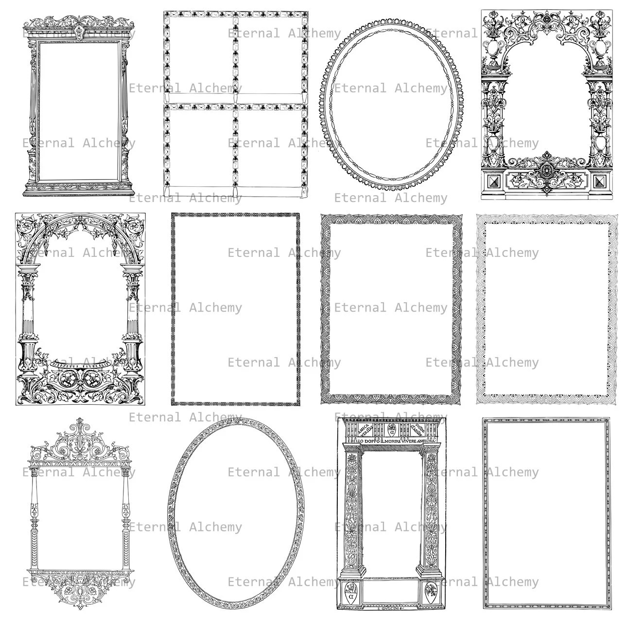 Decorative Elements Clipart Collection Set 4 Abstract