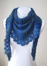 Crochet Pattern Shawl and Mitts PDF Triangle shawl uk or us