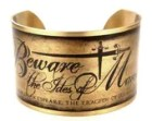 Julius Caesar Quote, Beware the Ides of March Cuff, William Shakespeare Quote Jewelry