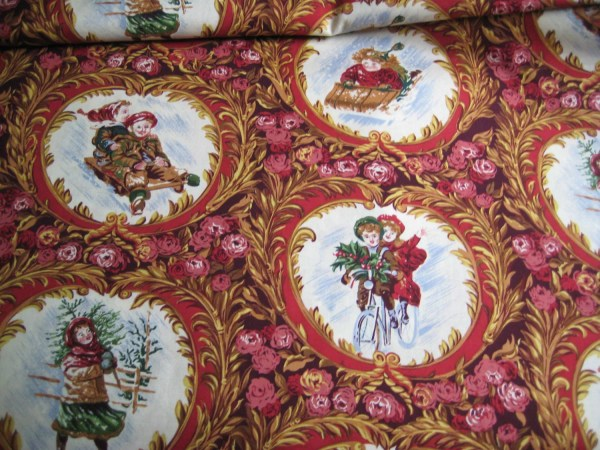 Victorian Christmas Fabric Yard Mary Koval Winter