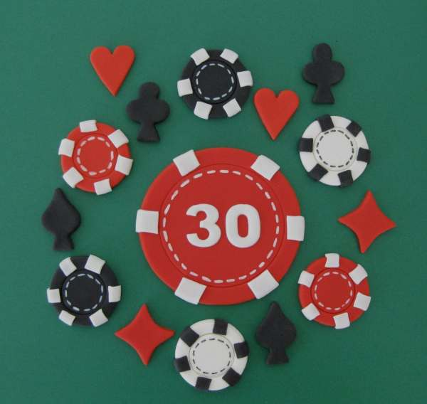 Casino Theme Cake Toppers