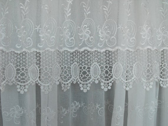 White Lace Sheers