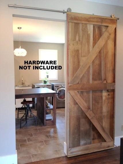 British Brace Barn Door Room Divider Made to Order from