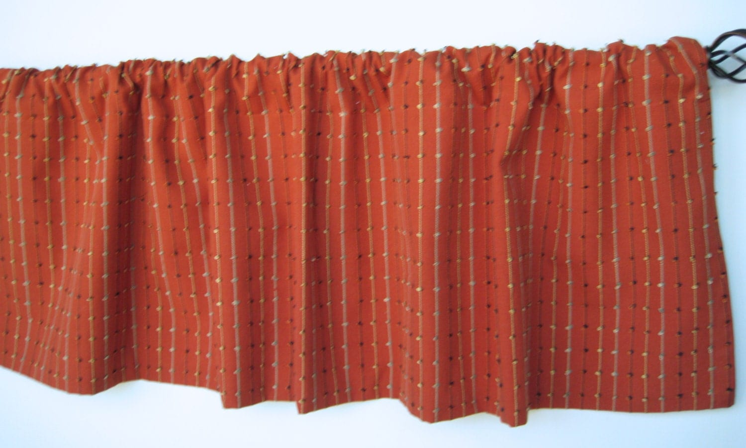 52x16 Valance Chili Rust Colored Valance Rust Window