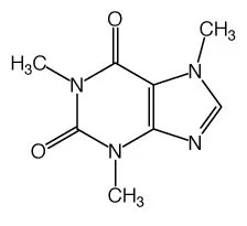 Caffeine Compound Chemical Structure Vinyl Decal 4