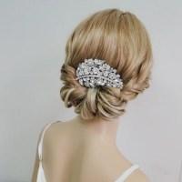 victorian wedding hair victorian style flower leaf bridal ...