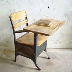 Vintage School Desk Chair Combo Hanging Darwin Reserved For Samantha Torres Rustic