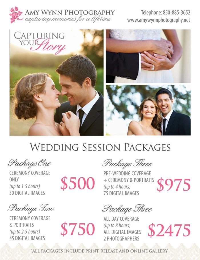 Wedding Photography Package Pricing by StudioTwentyNine on