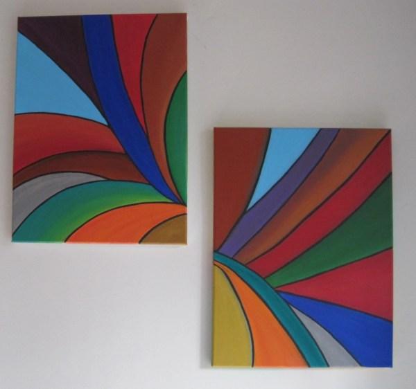 Original Geometric Wall Art Abstract Painting
