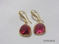 Fuchsia Glass Earrings Fuschia Earrings Fuchsia gold