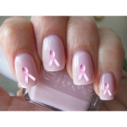 breast cancer ribbon nail decals