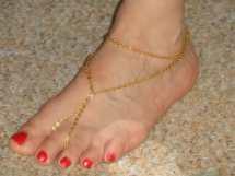 Barefoot Sandals Gold Swarovski Crystal Ankle Gemmajolee