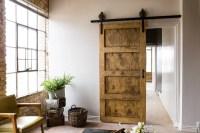 Black 6-8 FT Rustic Sliding Barn Door Closet Hardware Set