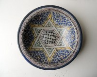 JEWISH MOROCCAN Antique Ceramic Wall Plate Magen by ...
