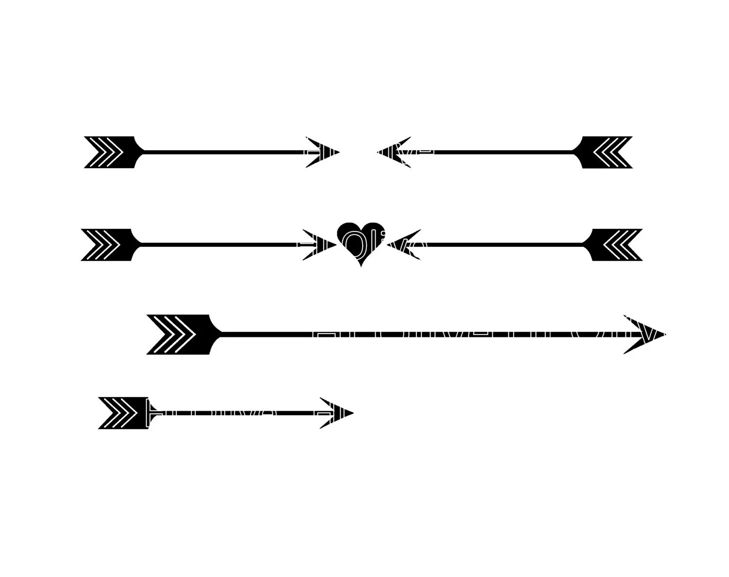 Svg Heart And Arrow Silhouette Clip Art Valentines Day Clip