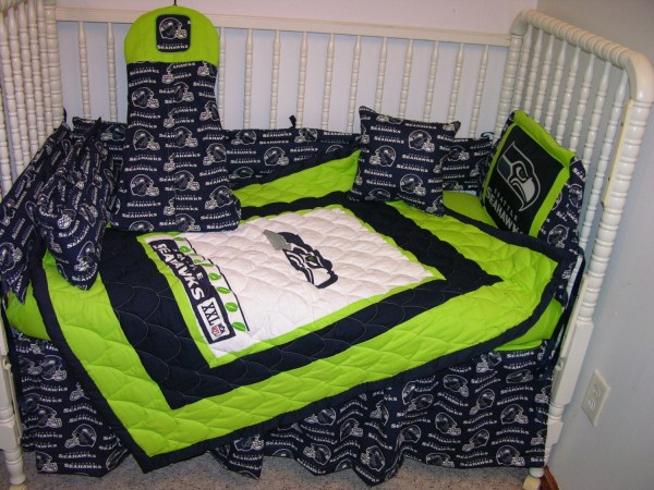 Crib Bedding Set Seattle Seahawks Fabric