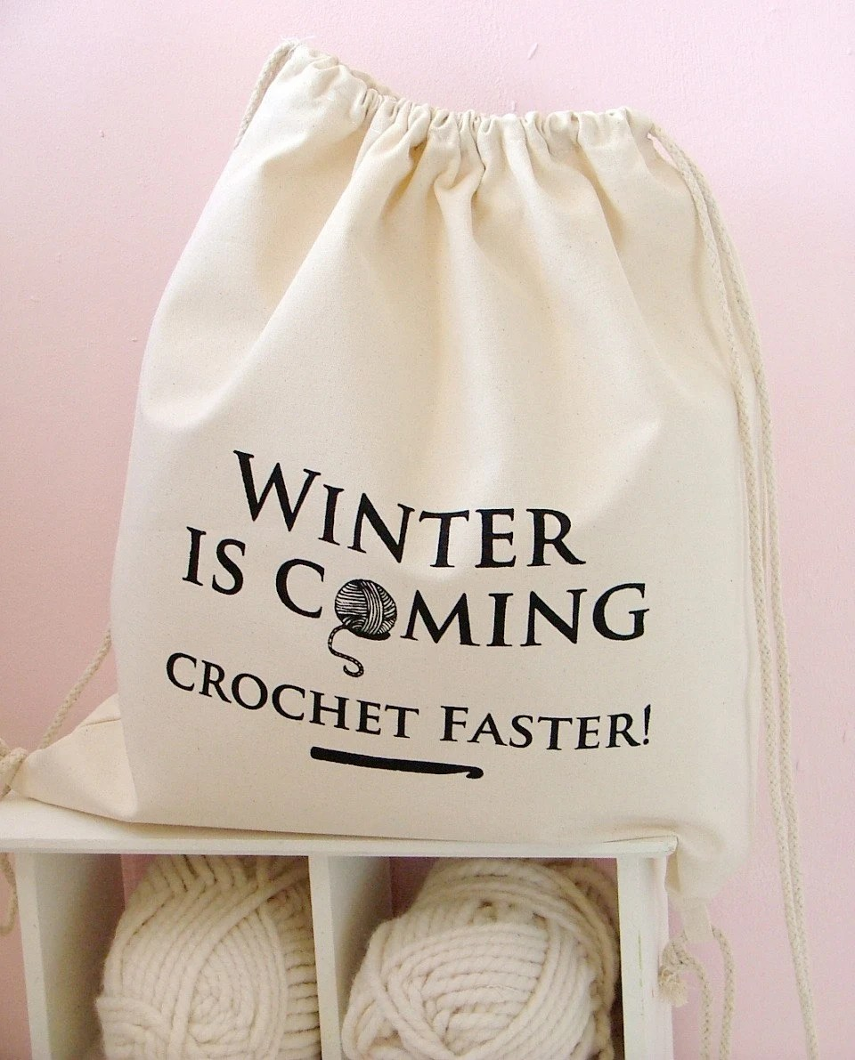Winter Is Coming crochet bag