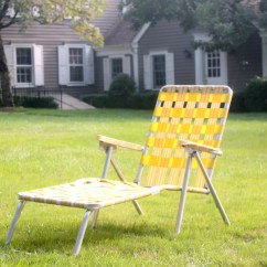 Vintage Outdoor Chairs Windsor Black Aluminum Folding Chaise Lounge Chair Retro Yellow